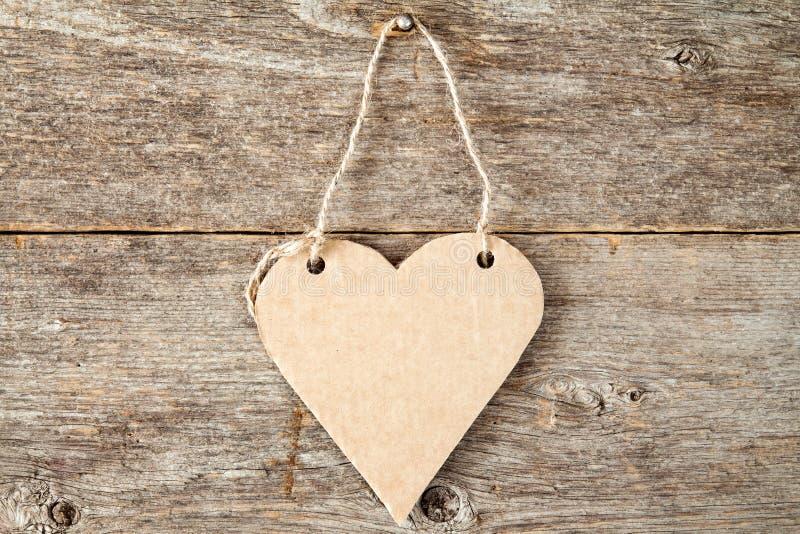 Quadro indicador de papel dado forma coração foto de stock royalty free