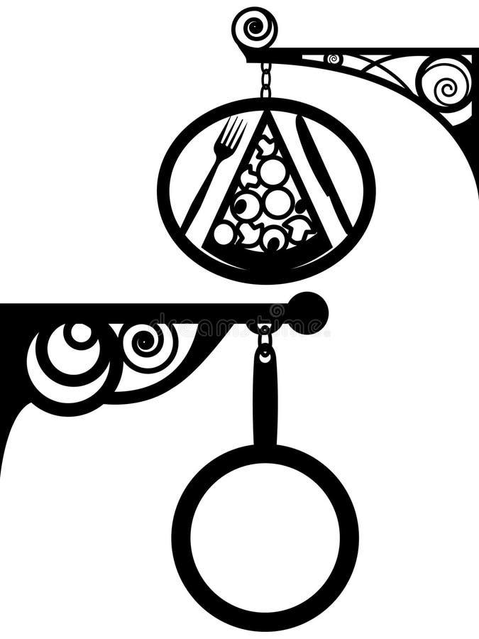 Quadro indicador do antiquarian da rua ilustração royalty free