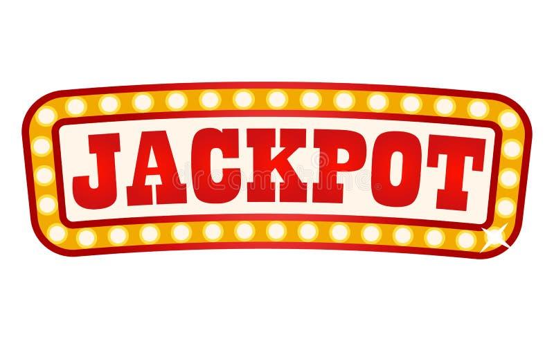 Quadro indicador do jackpot no quadro de incandescência, bandeira retro ilustração royalty free