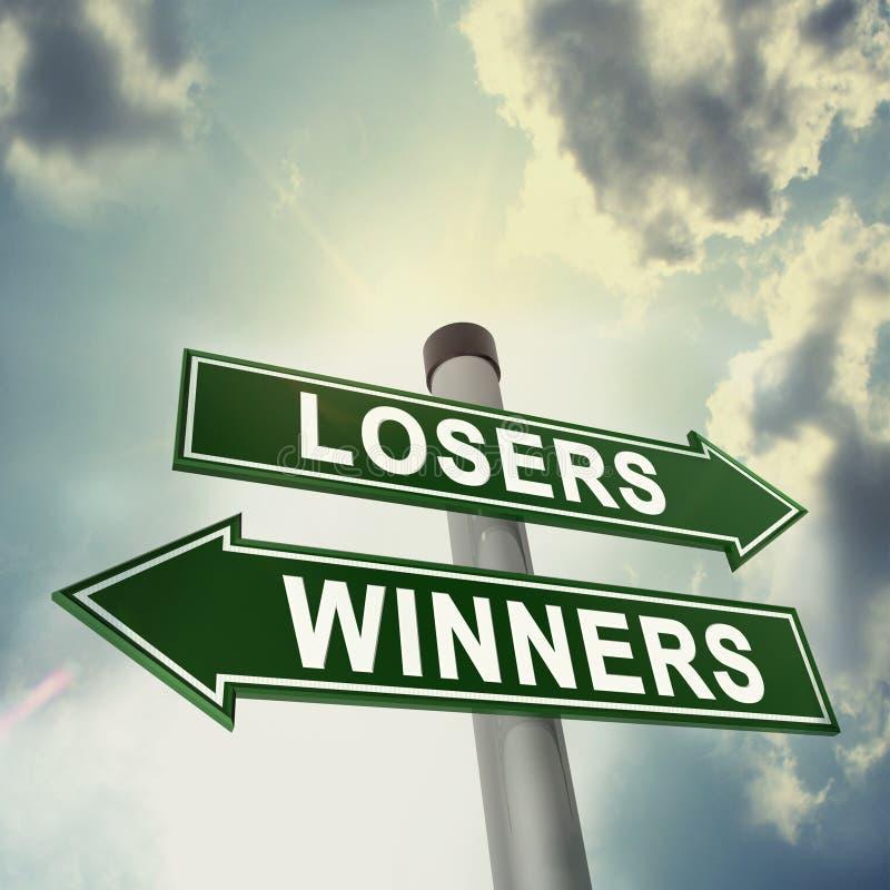 Quadro indicador do vencedor ou do vencido ilustração do vetor