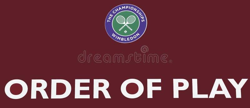 Quadro indicador oficial de Wimbledon imagem de stock