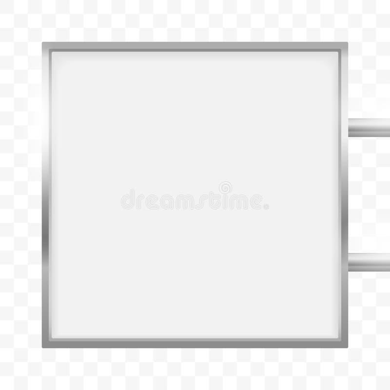 Quadro indicador quadrado da caixa leve do signage Modelo quadrado da caixa do sinal do lightbox do vetor ilustração royalty free