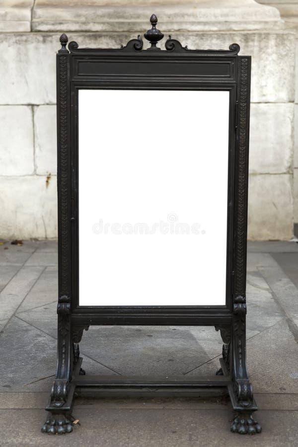 Quadro indicador vazio na rua da cidade fotos de stock royalty free