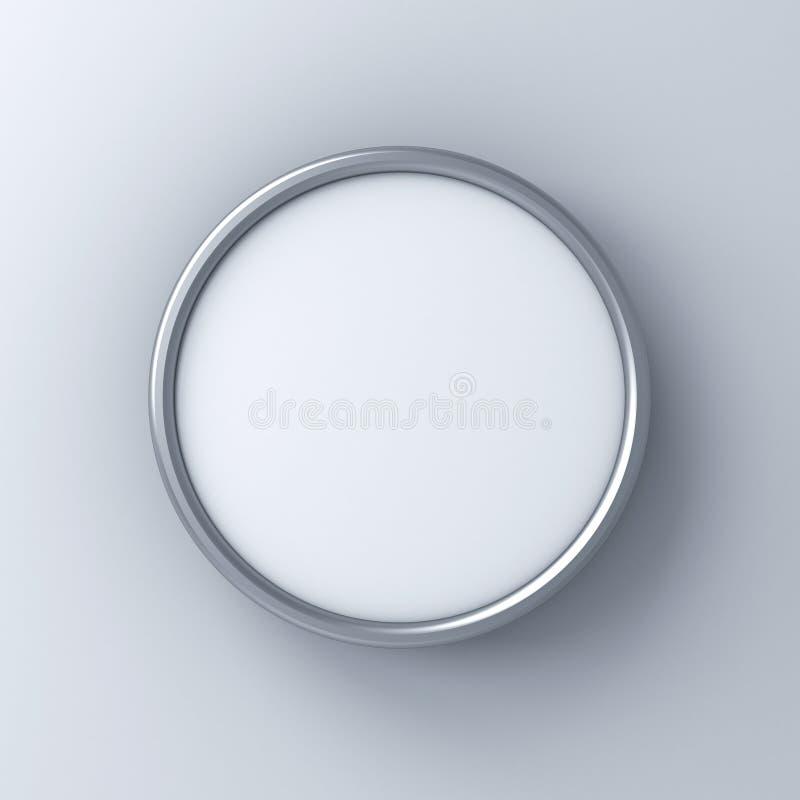 Quadro indicador vazio ou zombaria do círculo acima da placa ou de anunciar do signage as caixas do quadro de avisos do círculo i ilustração do vetor