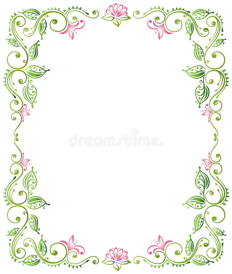Quadro, lótus ilustração royalty free