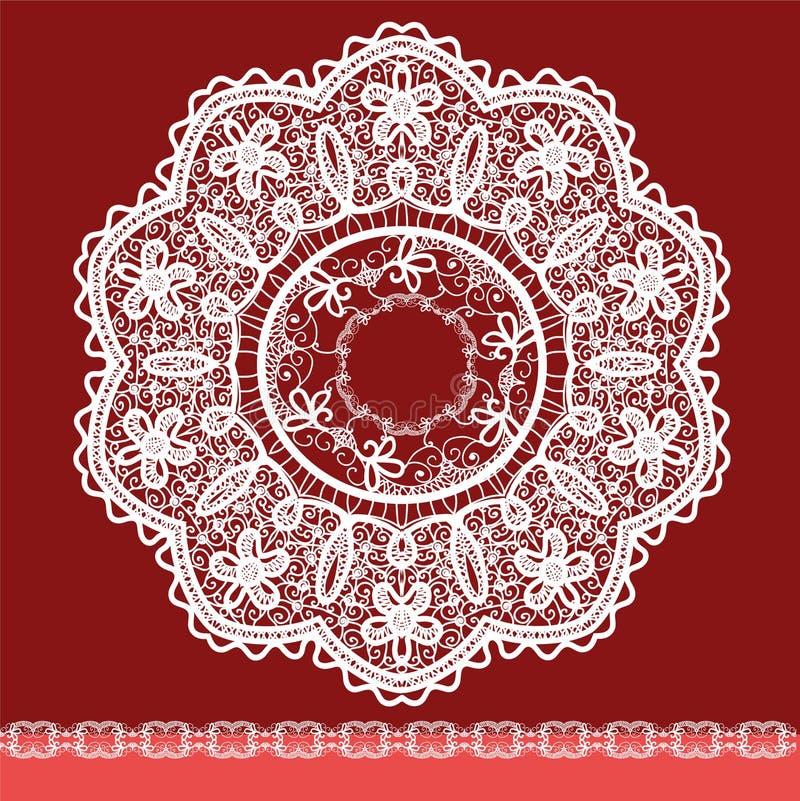 Quadro lace-like ilustração do vetor