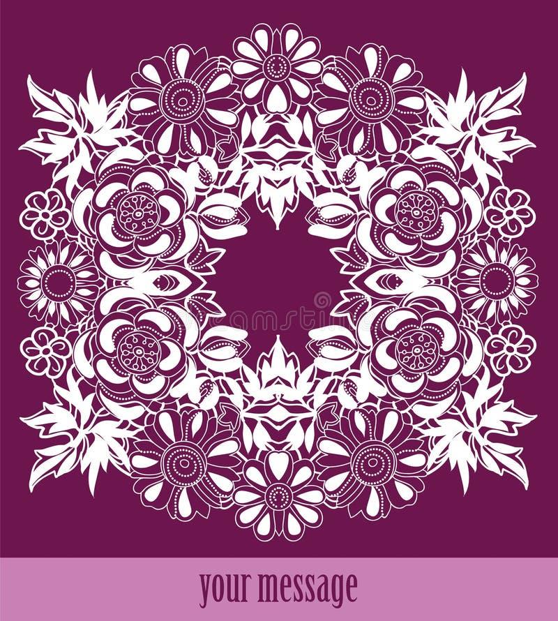 Quadro lace-like ilustração royalty free
