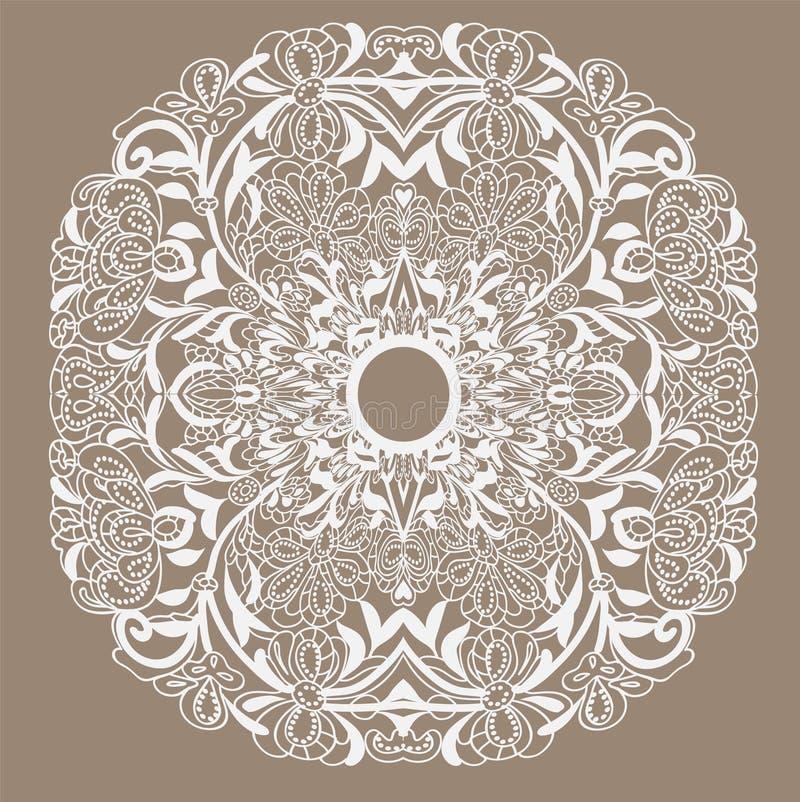 Quadro lace-like ilustração stock