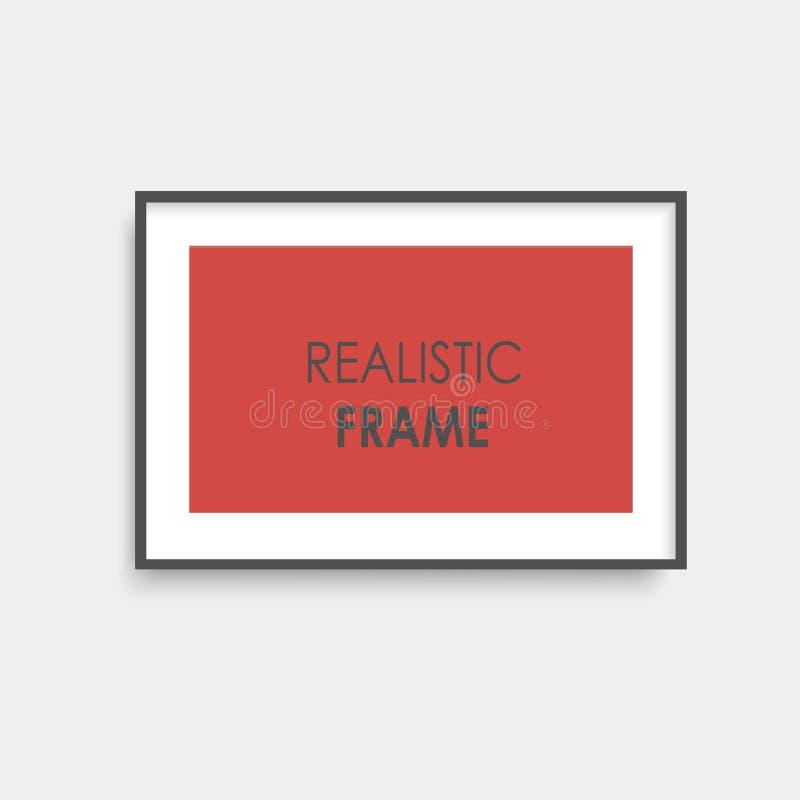 Quadro marrom realístico da foto Vetor ilustração stock
