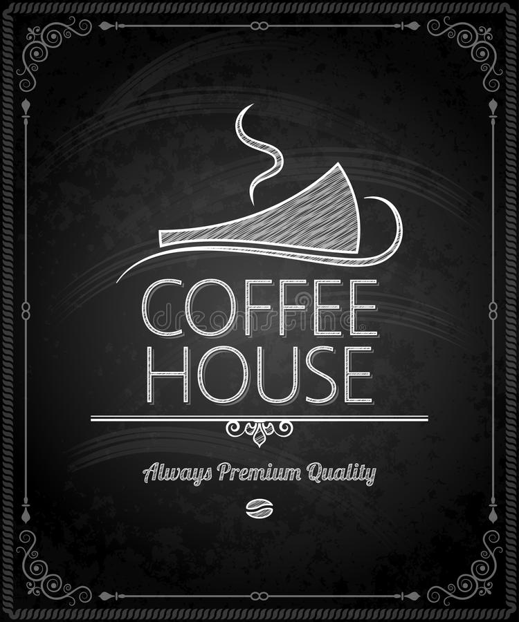 Quadro - menu do café do quadro ilustração do vetor