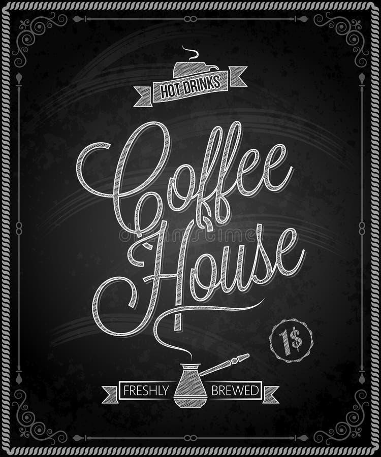 Quadro - menu do café do quadro ilustração royalty free