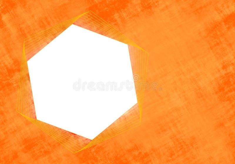 Quadro moderno do hexágono imagem de stock
