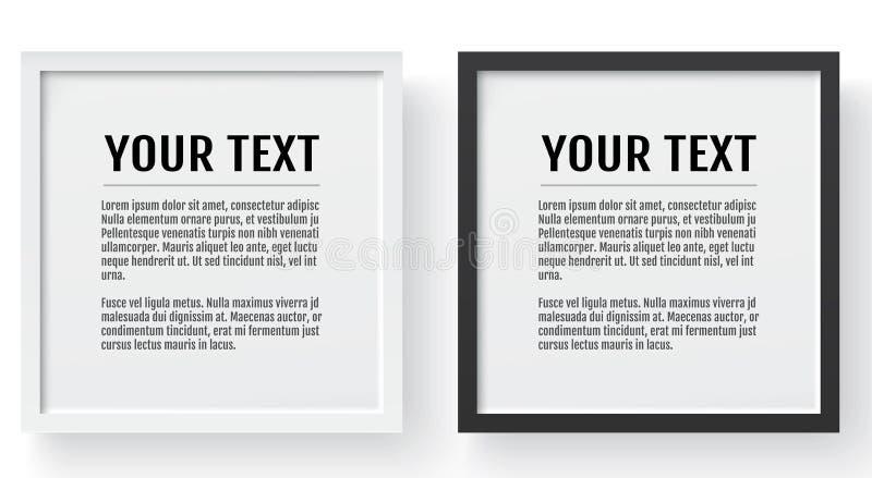 Quadro moderno, modelo Lugar para o texto, a foto, o presente ou o outro Ilustração do vetor ilustração royalty free