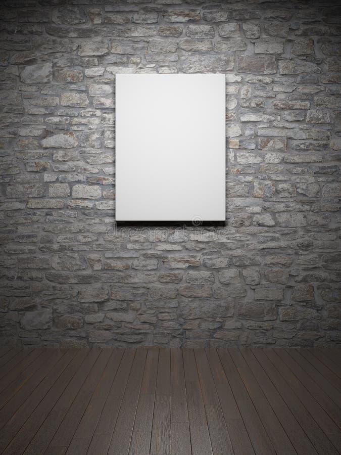 Quadro na parede de tijolo ilustração do vetor