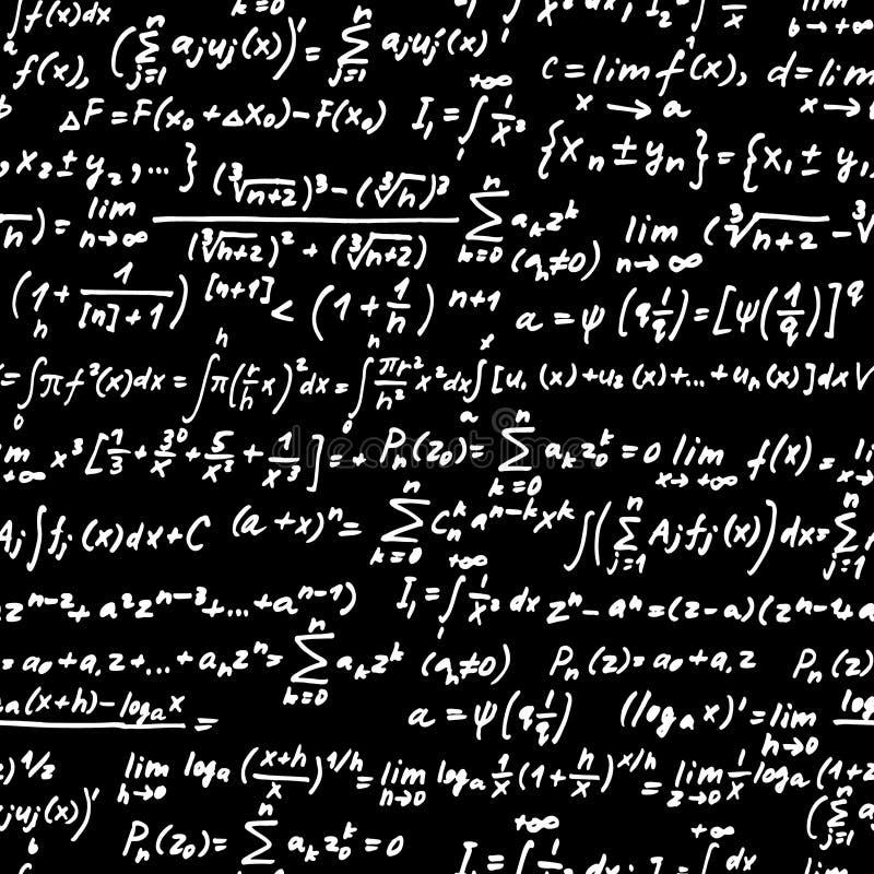 Quadro-negro da álgebra ilustração do vetor