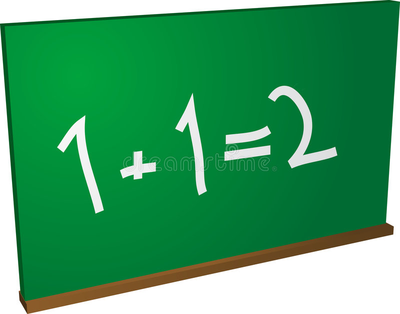Quadro-negro da matemática ilustração do vetor