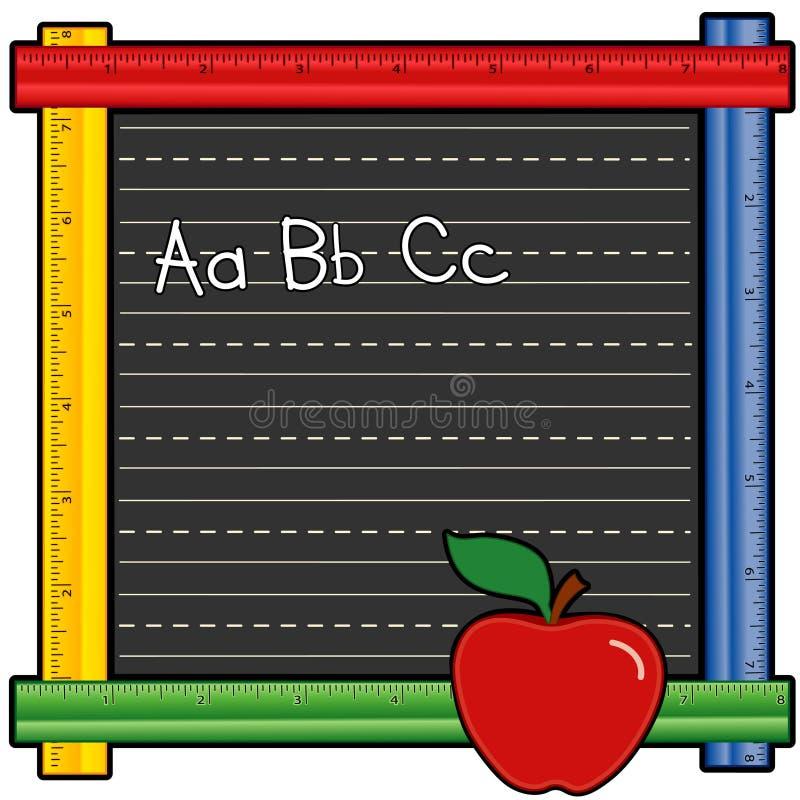 Quadro-negro da régua do ABC ilustração royalty free