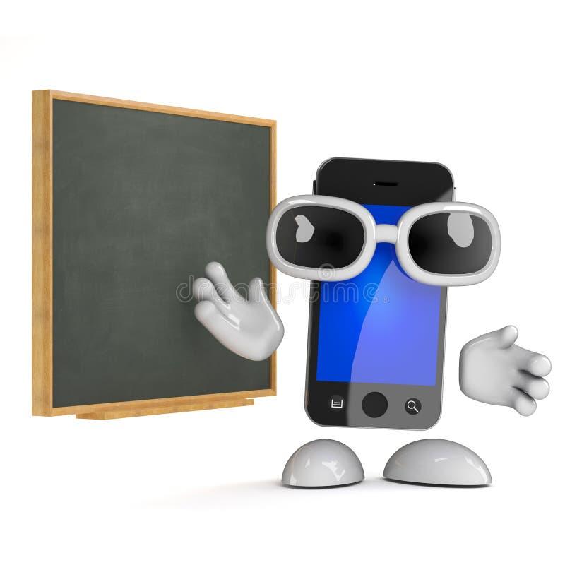 quadro-negro de 3d Smartphone ilustração do vetor