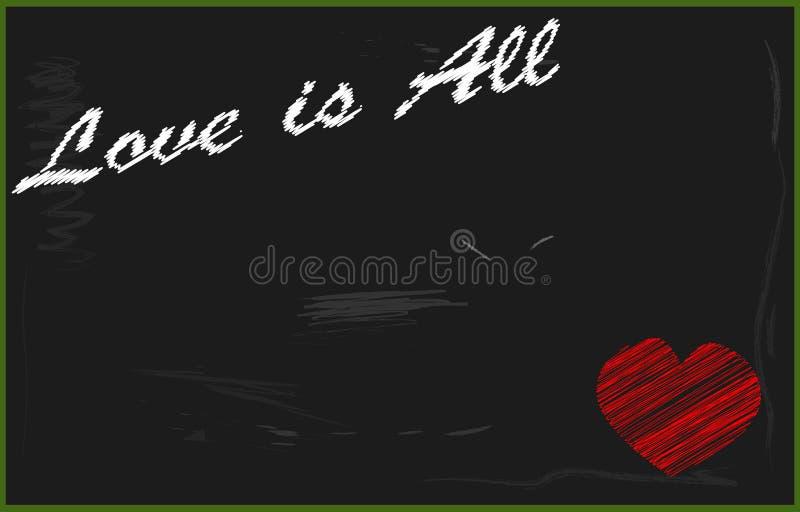 Download Quadro-negro do amor ilustração stock. Ilustração de coração - 107525818