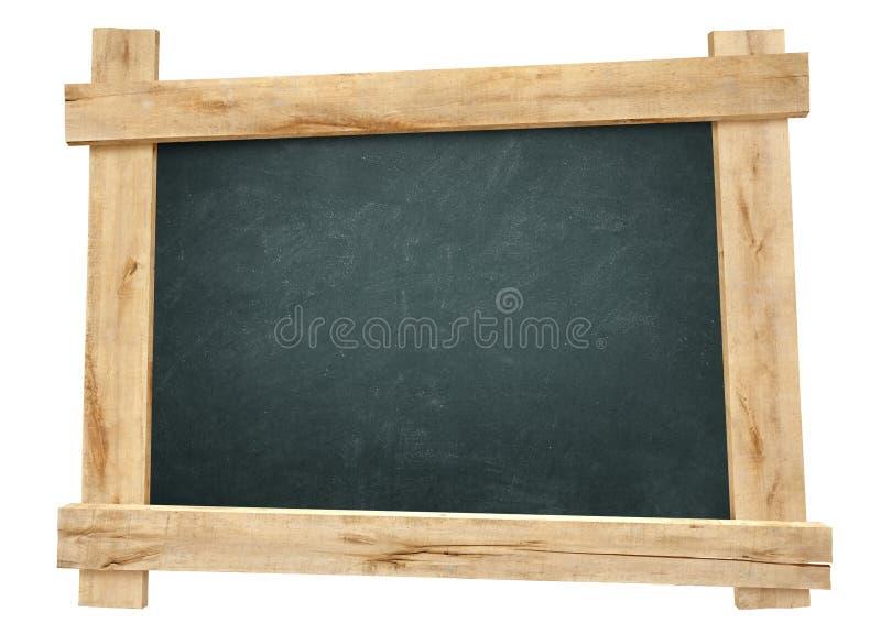Quadro-negro do quadro de madeira fotografia de stock