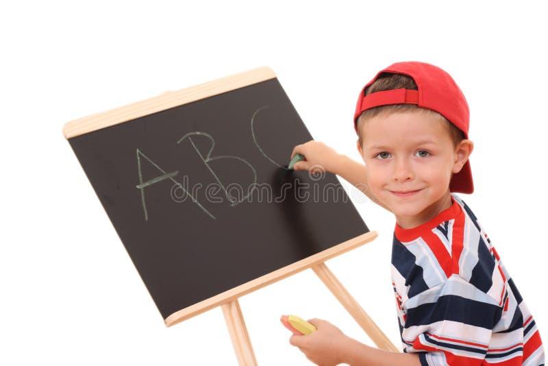 Quadro-negro e criança imagem de stock royalty free