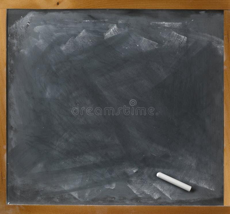 Quadro-negro e giz em branco directamente imagens de stock royalty free