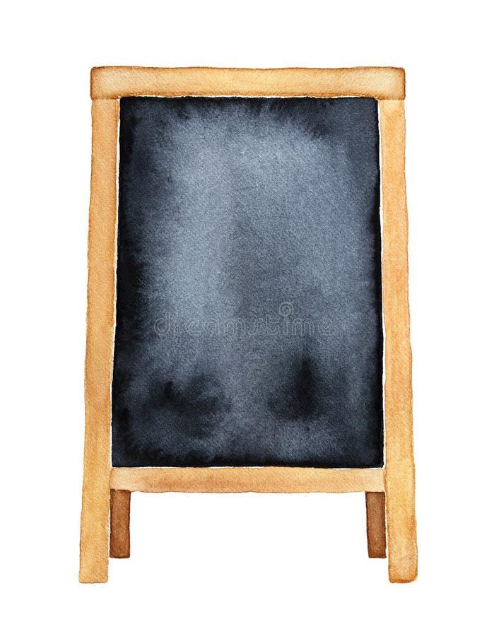 Quadro-negro ereto vazio Menu, molde do anúncio, zombaria acima, bandeira da promoção, decoração ilustração do vetor