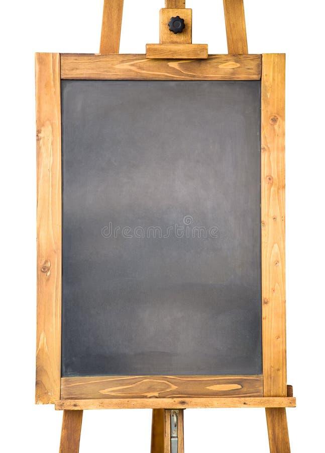 Quadro-negro pequeno com frame de madeira imagens de stock royalty free