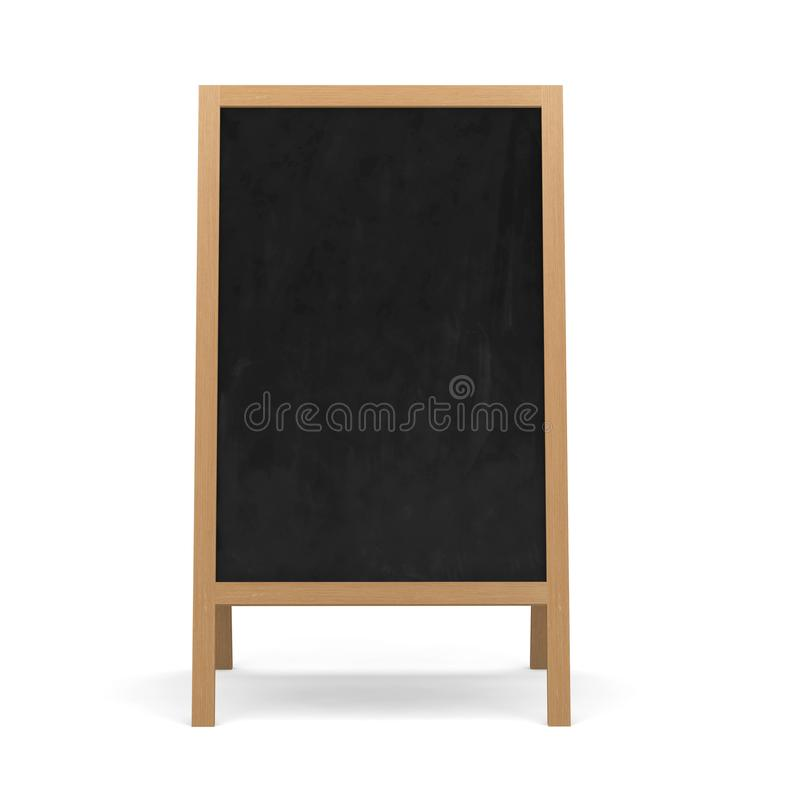 Quadro-negro, quadro, placa, vazia, molde, fundo, giz, sala de aula, escola, placa, quadro, educação, de madeira, isolada, b ilustração do vetor