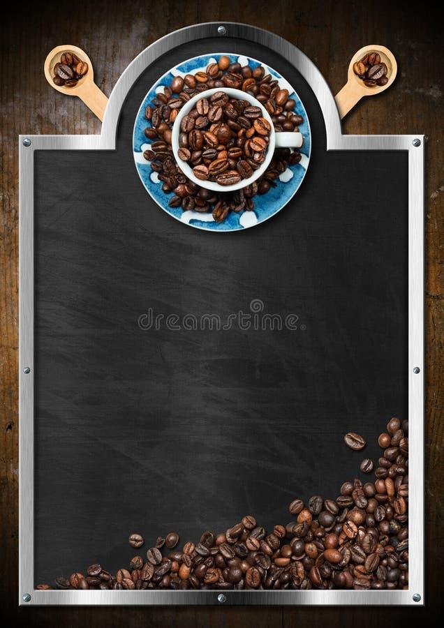 Quadro-negro vazio para uma casa do café ilustração stock