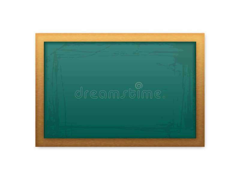 Quadro-negro verde da escola ilustração do vetor