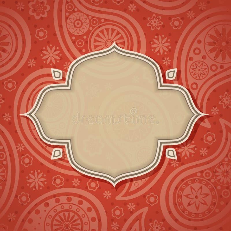 Quadro no estilo indiano ilustração royalty free