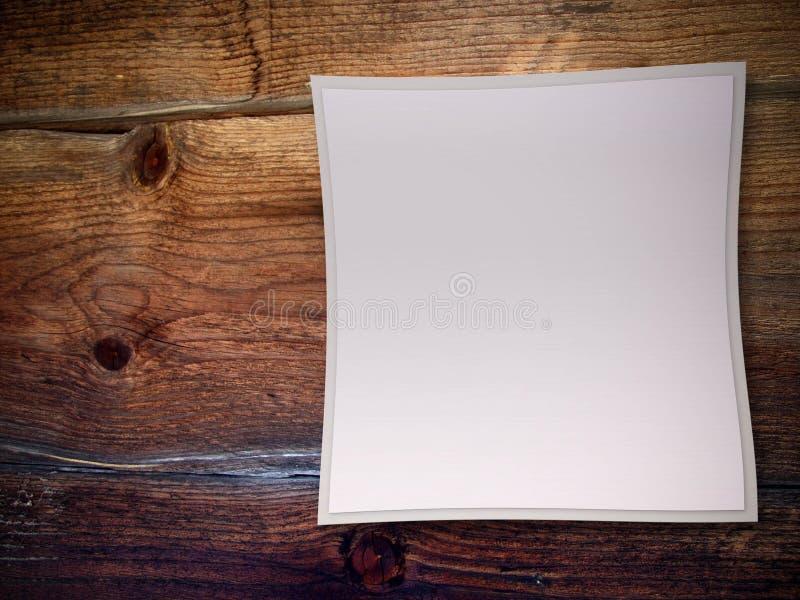 Quadro no fundo de madeira ilustração do vetor