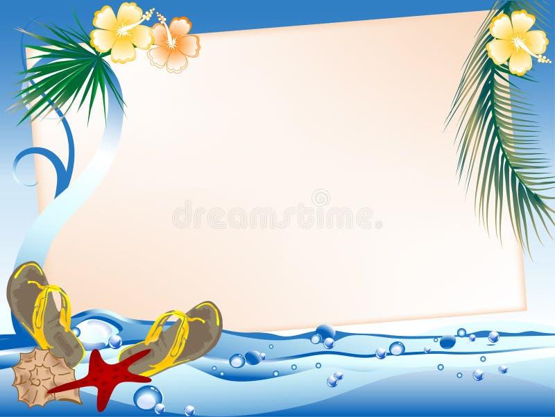 Quadro no mar ilustração do vetor