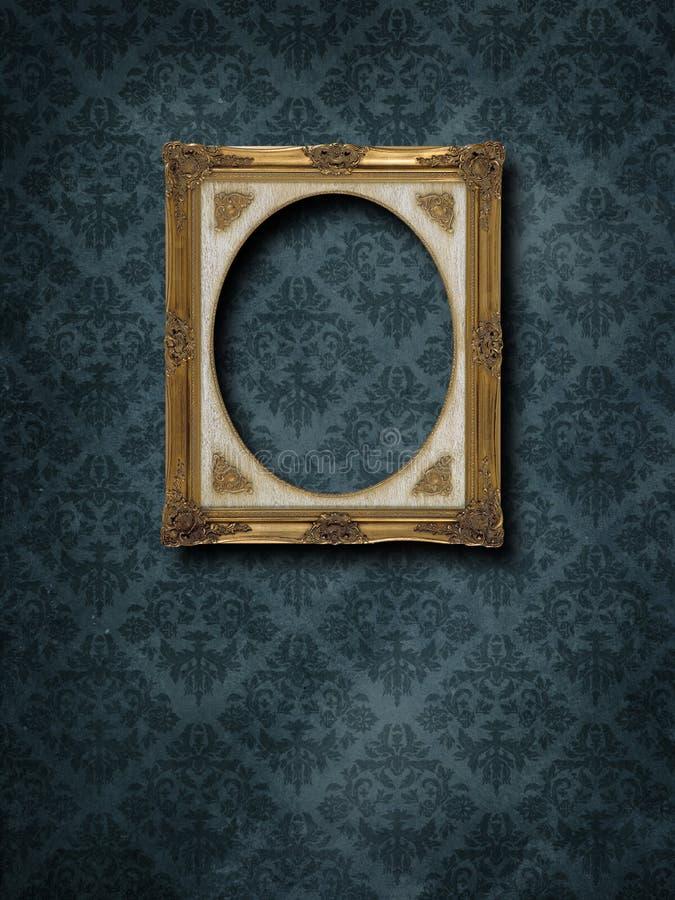 Quadro no papel de parede do grunge foto de stock royalty free