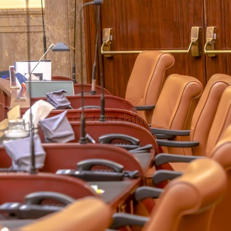 Quadro o quadrado a câmara de casa no assoalho legislativo da construção do capital de estado de Utá imagem de stock royalty free