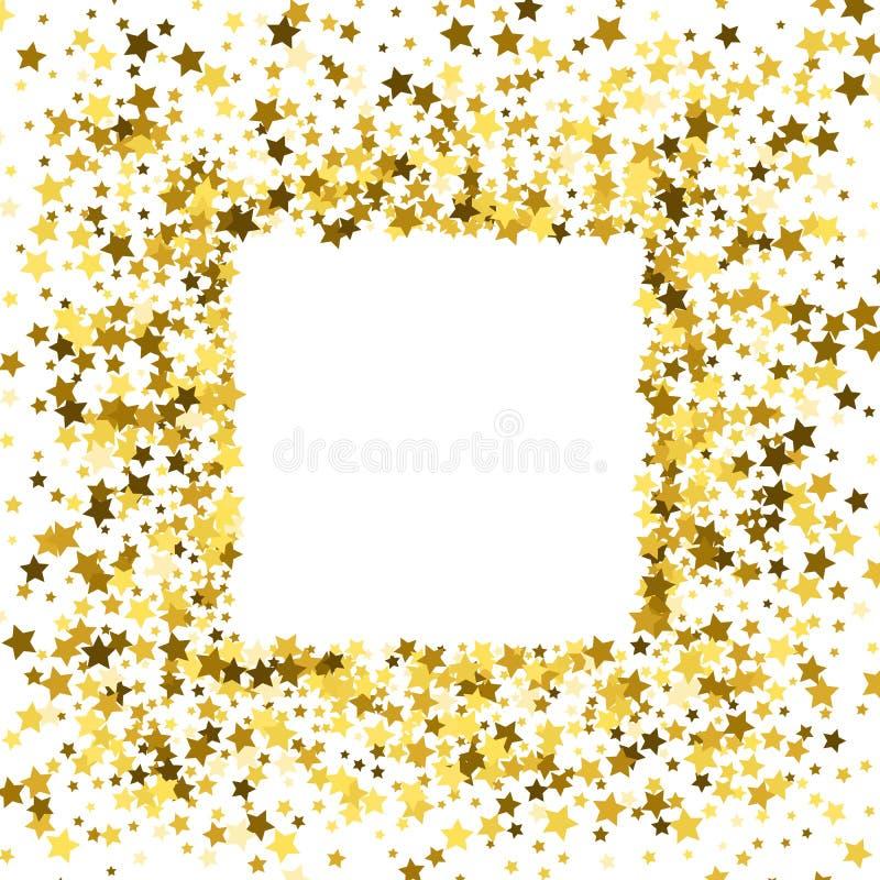 Quadro ou beira das estrelas ilustração stock