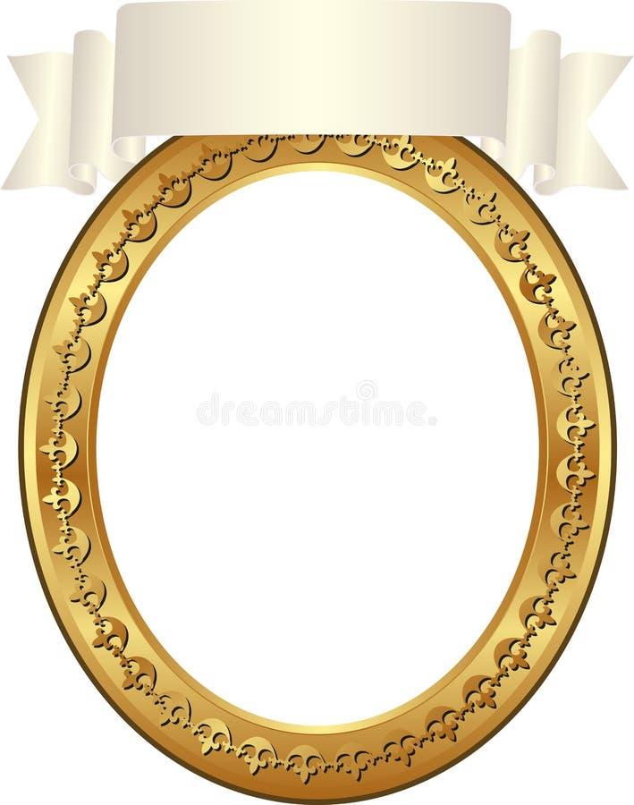Quadro Oval Fotografia de Stock Royalty Free