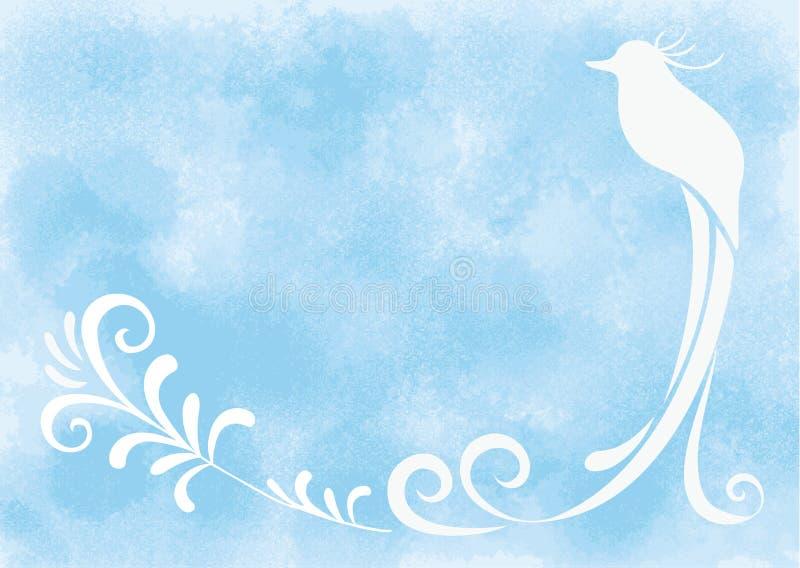Quadro - pássaro de paraíso ilustração do vetor