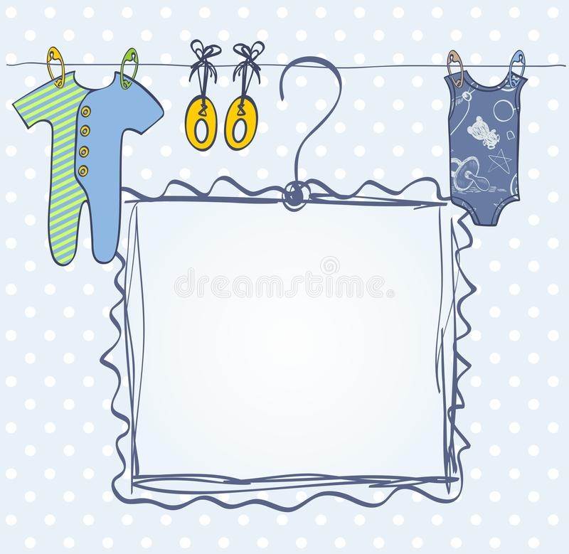 Quadro para recém-nascido ilustração do vetor