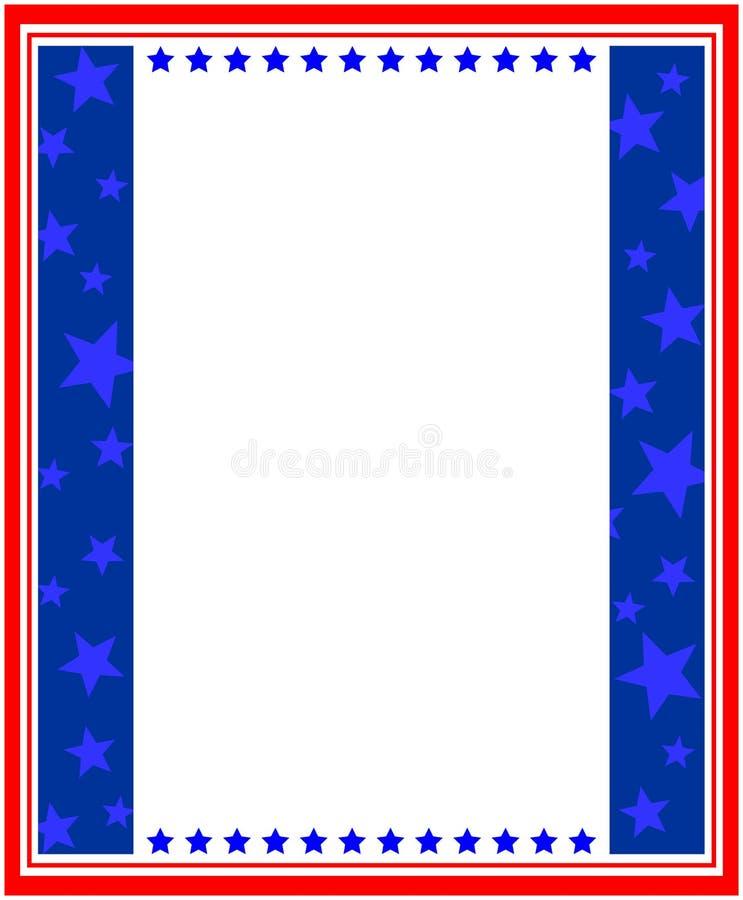 Quadro patriótico abstrato dos símbolos da bandeira americana ilustração stock