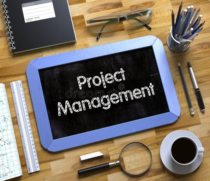 Quadro pequeno com conceito da gestão do projeto 3d foto de stock royalty free