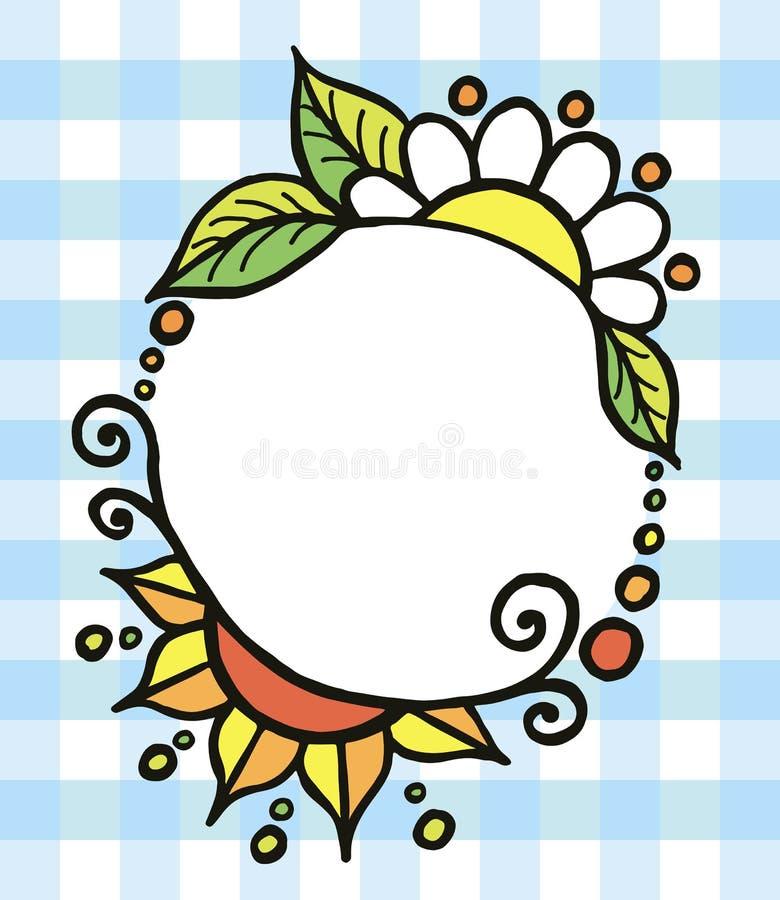 Quadro pintado decorativo colorido redondo do vetor fotos de stock