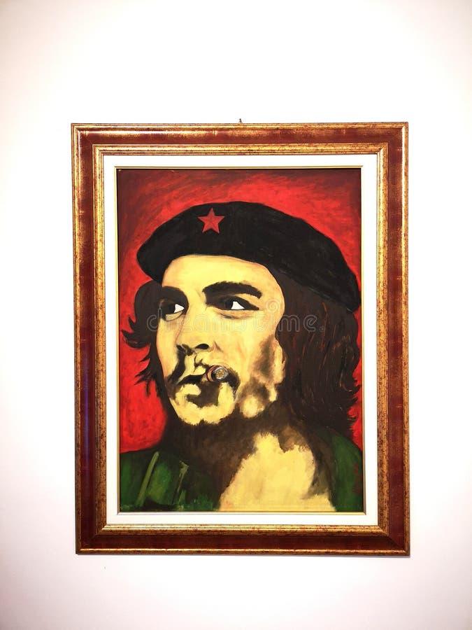 Quadro Pittorico Del Che guevara obrazy stock