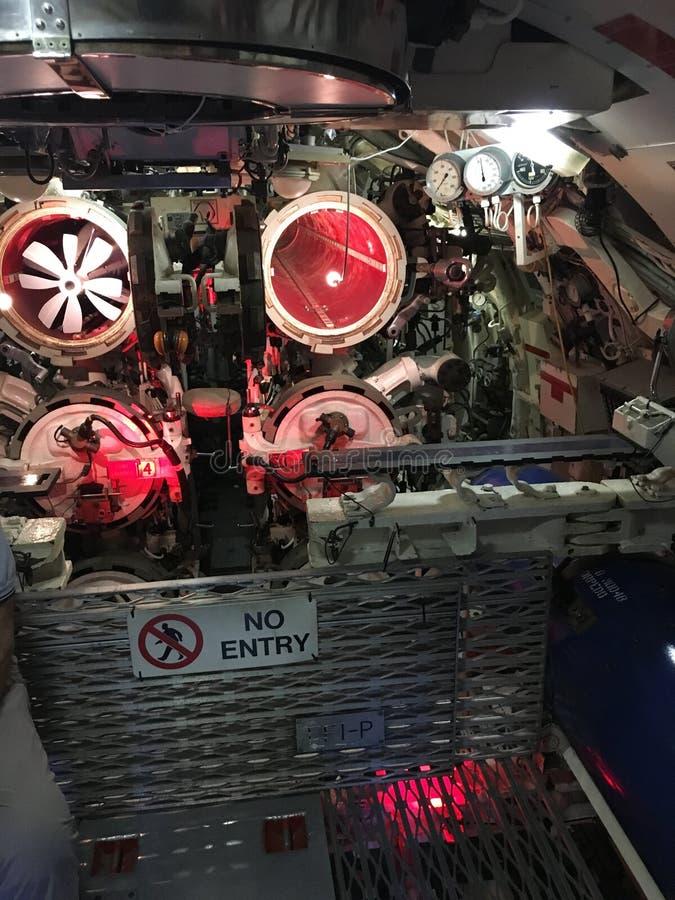 Quadro portastrumenti di mostra interno sottomarino immagini stock