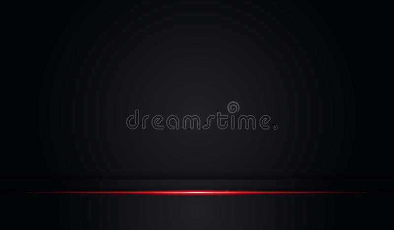 Quadro preto da cor brilhante vermelha metálica do sumário com fundo moderno do molde do vetor do projeto da tecnologia da dispos ilustração do vetor