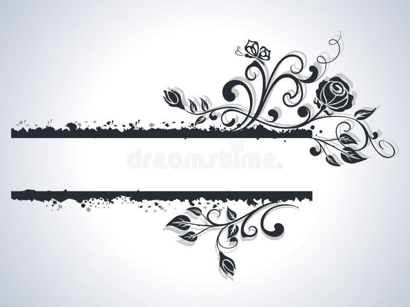 Quadro preto e branco da rosa ilustração stock