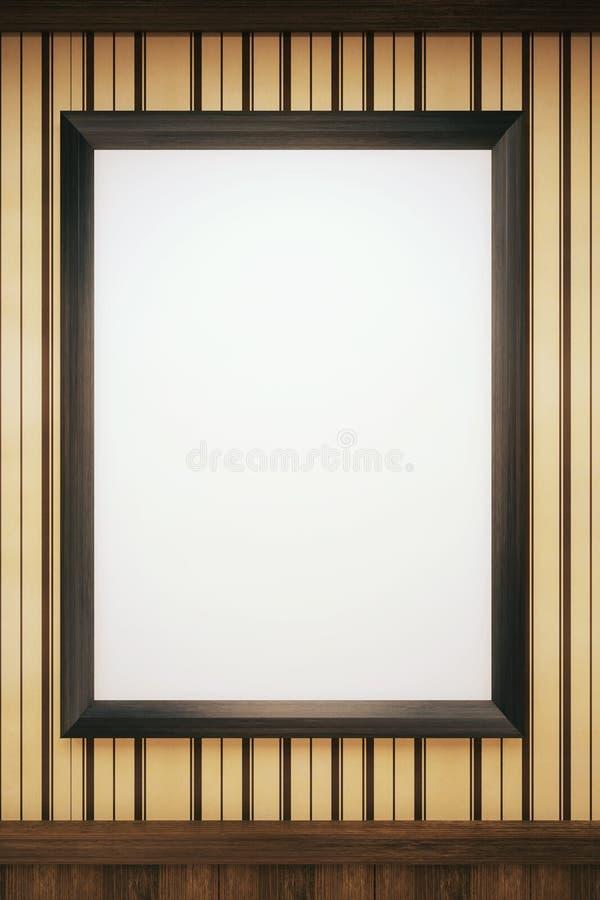 Quadro preto no papel de parede ilustração do vetor