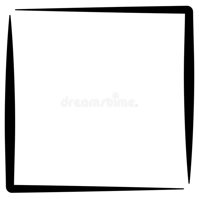 Quadro quadrado da foto do formato, beira da foto ilustração stock