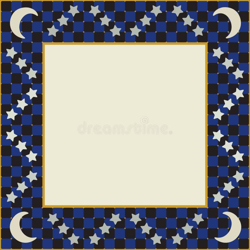 Quadro Quadrado Da Lua E Das Estrelas Fotografia de Stock Royalty Free